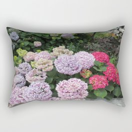 Budva Hydrangeas Rectangular Pillow