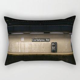 Empty Subway Rectangular Pillow