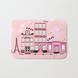 French Cafe Strip Bath Mat