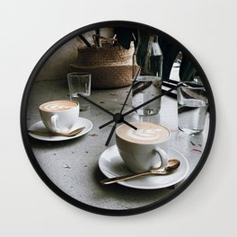 Latte + Plants V Wall Clock