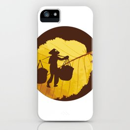 Vietnamese woman street vendor Hanoi Capital iPhone Case