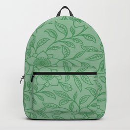 Green Lace Floral Backpack
