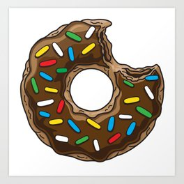 You can't buy happiness but chocolate donut Art Print