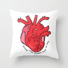 Scarred Heart Throw Pillow