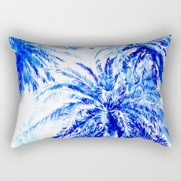 Blue Palms Rectangular Pillow