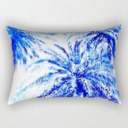 Blue Palm Trees beach california beach design aquatic beach blue design beach house Rectangular Pillow