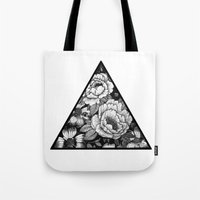 triangle Tote Bags featuring Triangle by adroverart