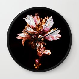 Flower in Color Wall Clock
