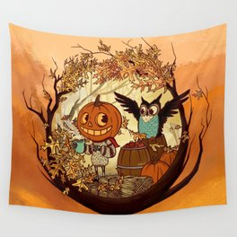 Fall Folklore Wall Tapestry