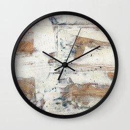 Wood planks epoxy resin repairing shipboard texture Wall Clock