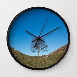 Sycamore Tree in Hadrian's Wall Wall Clock