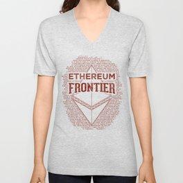 Ethereum Frontier (dark red) Unisex V-Neck