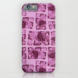 floral patchwork iPhone Case