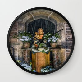 The Virgin and Child  Wall Clock