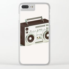 Lo-Fi goes 3D - Boombox Clear iPhone Case