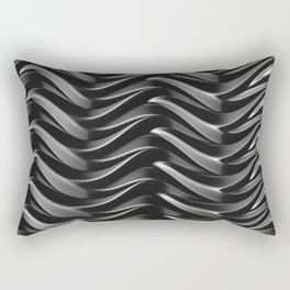 GRIEVE shades of dark grey weave together to gain strength Rectangular Pillow