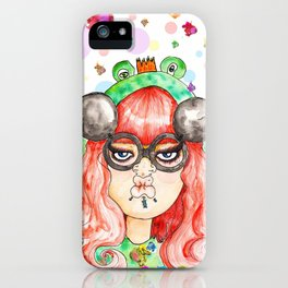 Miss Frog iPhone Case