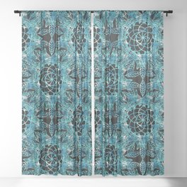 Cosmic Dreamcatchers Sheer Curtain