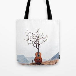 Guitar Tree Tote Bag