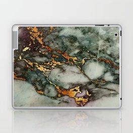 Gray Green Marble Glitter Gold Metallic Foil Style Laptop & iPad Skin