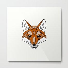 Geometric Fox - Abstract, Animal Design Metal Print