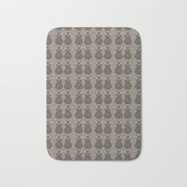 Brown and Gray Cute Stretching Cats Vector Pattern Bath Mat