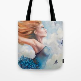 Zephyr, She Flies With Her Own Wings Tote Bag