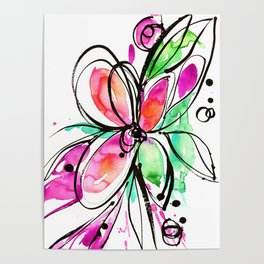 Ecstasy Bloom No. 1 by Kathy Morton Stanion Poster