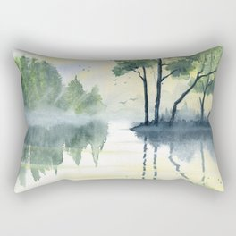 Foggy Morning 2 Rectangular Pillow