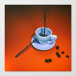 Sine coffea nihil sum Canvas Print