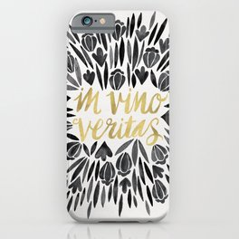 In Wine, There is Truth – Black & Gold iPhone Case