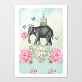 Paris Elephant Canvas Print