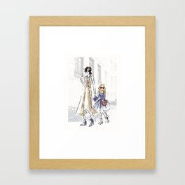 City fashion walk Framed Art Print