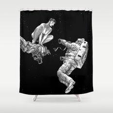 asc 578 - La séparation (Cutting the cord) Shower Curtain
