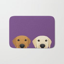 Tan Lab & Yellow Lab Bath Mat