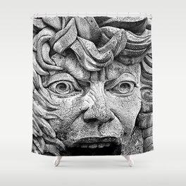 Fountain Face  Shower Curtain
