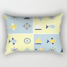 AFE Nautical Elements 2 Rectangular Pillow