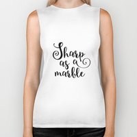 marble Biker Tanks featuring Marble by melonweed