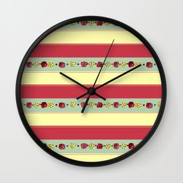 A Rosy Outlook Wall Clock