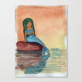 Sunset Mermaid Canvas Print