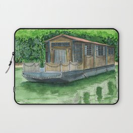 Houseboat on Greenwaters Laptop Sleeve
