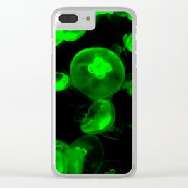 Neon Green Jelly Clear iPhone Case