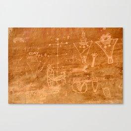 Sego Canyon Petroglyph - Utah Canvas Print