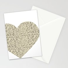 Heart with Script Stationery Cards