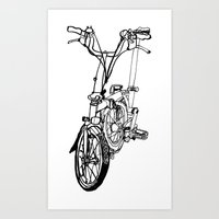 brompton Art Prints featuring Brompton by Swasky