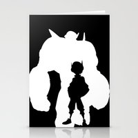big hero 6 Stationery Cards featuring Big Hero 6 Silhouette by Travis Love