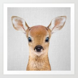 Baby Deer - Colorful Art Print