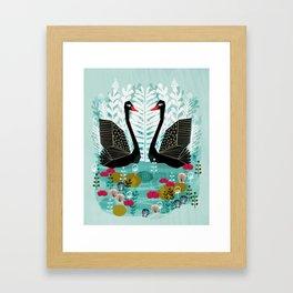 Swans by Andrea Lauren Framed Art Print