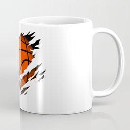 Basketball in the heart basketball player passion Coffee Mug
