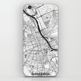 Warsaw Map Gray iPhone Skin